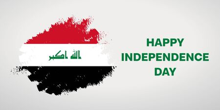 October 3rd Happy Independence day of Iraq. Imagens - 129818646