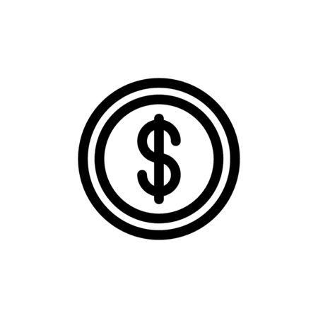 Dollar symbol currency money simple flat style icon.