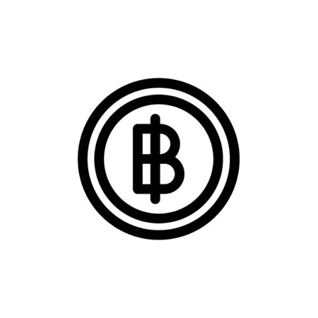 Bitcoin symbol currency money simple flat style icon.