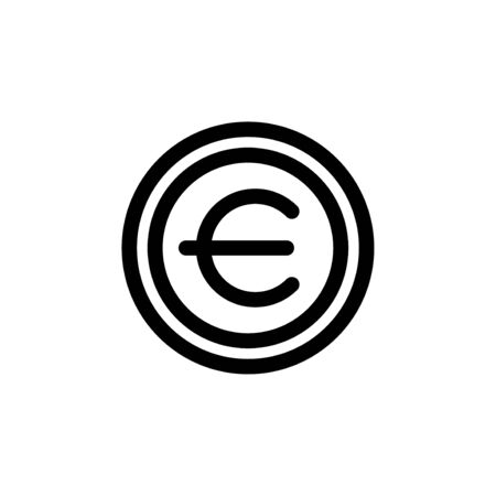 Euro symbol currency money simple flat style icon.