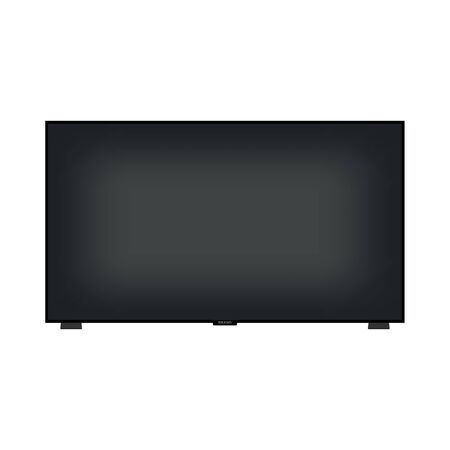 TV icon simple flat style black illustration. Imagens - 129818656