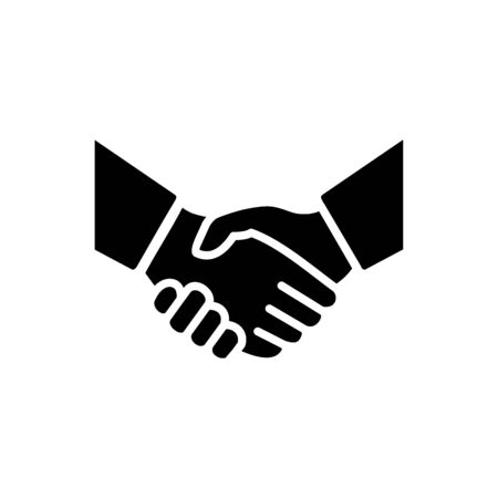 Handshake icon simple vector illustration. Deal or partner agreement symbol. Handshake sign. Hands meeting image. Imagens - 130565742