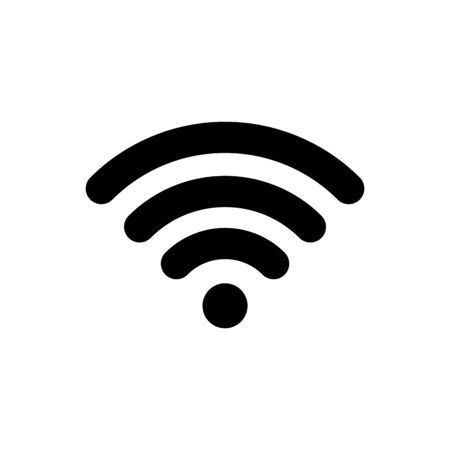 Wifi connection icon. Wifi signal coverage symbol vector illustration. Wifi zone sign.
