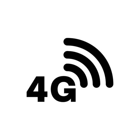 4G icon network coverage area simple flat style symbol. Imagens - 130565752