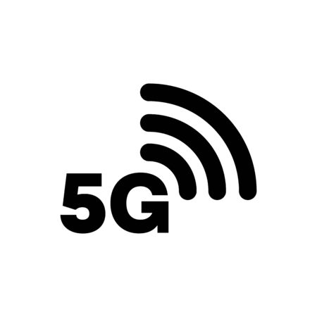 5G icon network coverage area simple flat style symbol. Imagens - 130565753