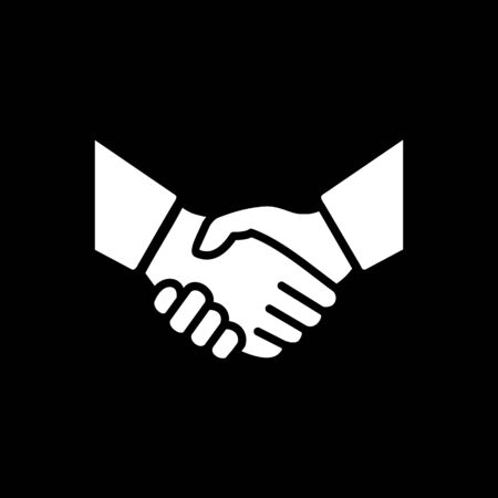 Handshake icon simple vector illustration. Deal or partner agreement symbol. Handshake sign. Hands meeting image. Imagens - 130565756
