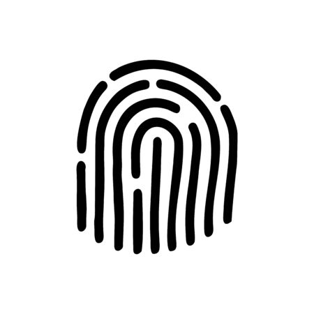 Fingerprint icon vector. Fingerprint symbol. Linear style sign for mobile concept and web design.