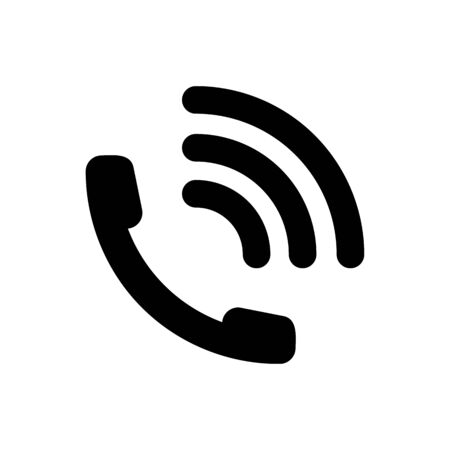 Phone call icon vector illustration. Telephone symbol.