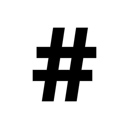 Hashtag icon concept of communication sign or customer experience. Minimal style trendy simple hash tag symbol.