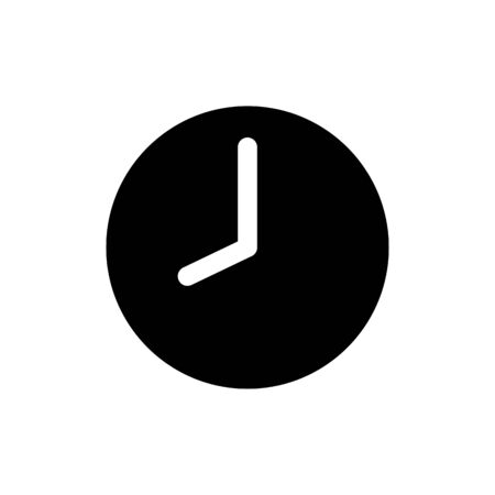 Clock icon in trendy flat style isolated on background. Clock icon page symbol for your web site design. Ilustração