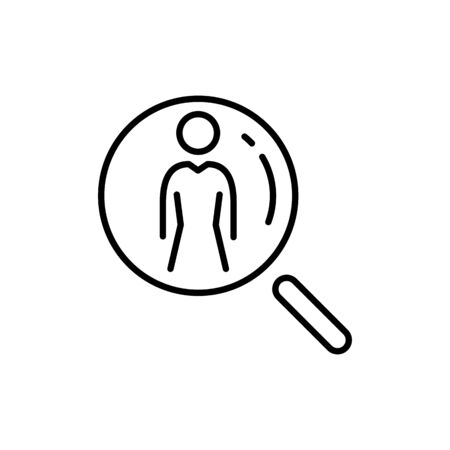 Employee icon. Recruitment sign. Headhunting. We are hiring symbol business people icon simple line flat illustration. Ilustração