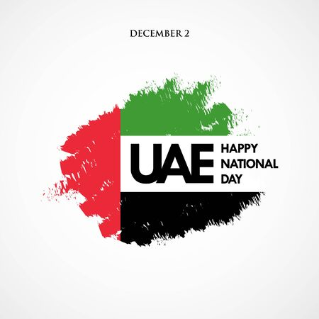 Happy National Day UAE. United Arab Emirates national day greeting card design Ilustração