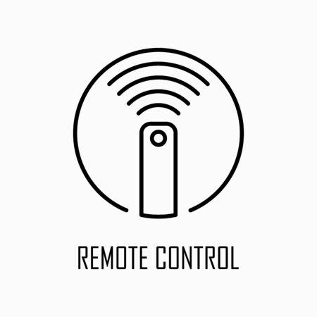 Remote control icon simple outline flat illustration. Иллюстрация
