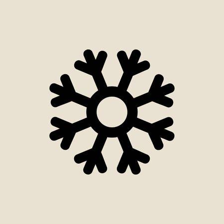 Snowflake icon simple flat style Christmas symbol.