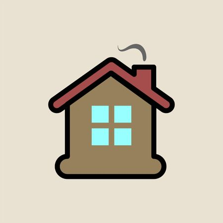House icon simple flat style Christmas symbol.