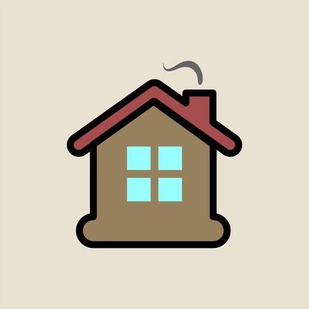 House icon simple flat style Christmas symbol.