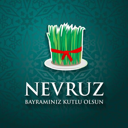 Nevruz bayraminiz kutlu olsun. Translation: Happy Nowruz holiday. Ilustração