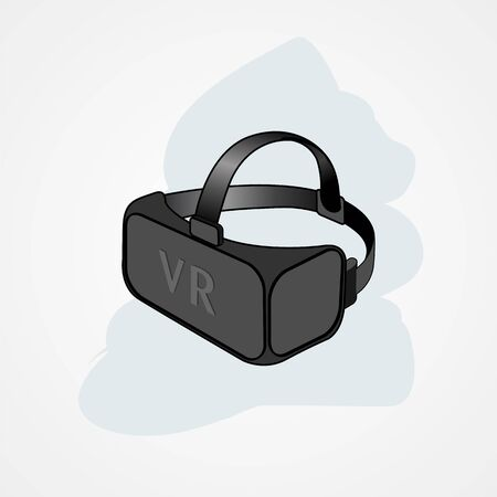 Virtual reality glasses display simple flat style vector illustration.
