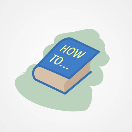 How to book simple flat style vector illustration.