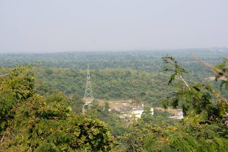 view of the residential area from the top of a hill