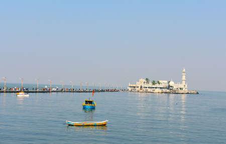 Haji Ali Dargah situated in the middle of the ocean in Mumbai