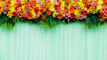 Beautiful flowers background for wedding scene photo