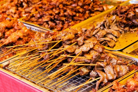 Traditional Thai style grilled pork photo