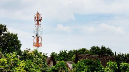mast cell: Telecommunication pillar in city Stock Photo