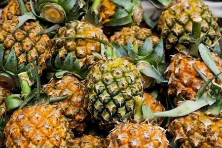 Close-up Pineapple Stock Photo