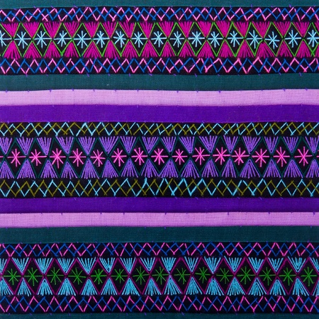 Colorful african peruvian style rug surface close up   photo
