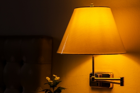 lamp and sofa photo