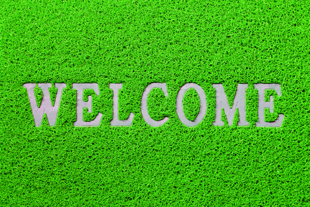 welcome mat: Welcome mat isolated Stock Photo