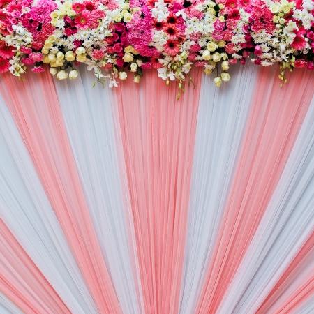 Beautiful flowers background for wedding scene Standard-Bild