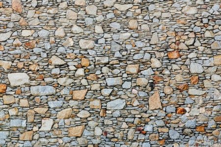 Pattern of old stone Wall Surfaced Stock Photo