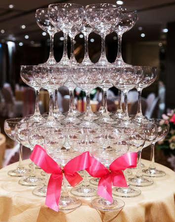 Pink Ribbon Champagne Glass