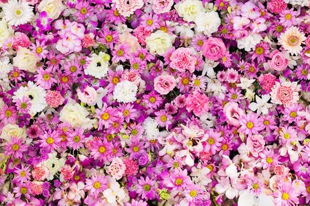 Beautiful flowers background for wedding scene Stock Photo