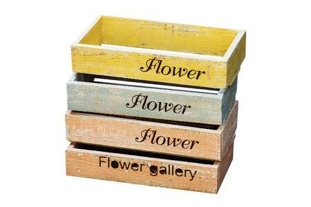 Nesting Wooden Flower Pot photo