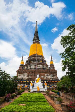 Big Image of buddha in ayutthaya ancient city, thailand photo