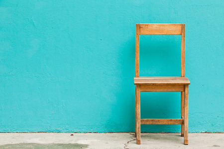 Wooden Chair in Abandoned Building  Standard-Bild