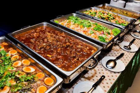 buffet: Eten buffet in de Thailand Stockfoto