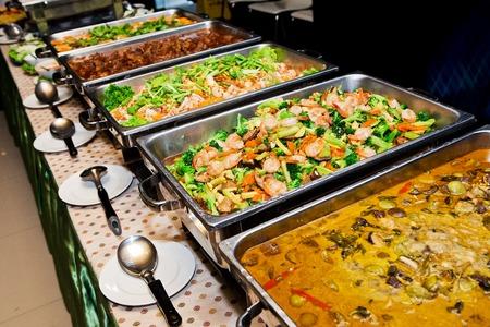 Comida buffet en el Tailandia