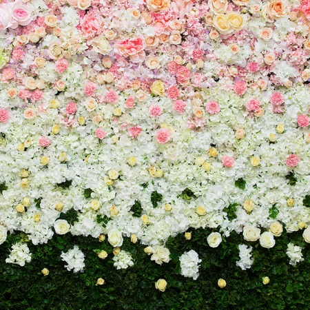 Beautiful flowers background for wedding scene Imagens