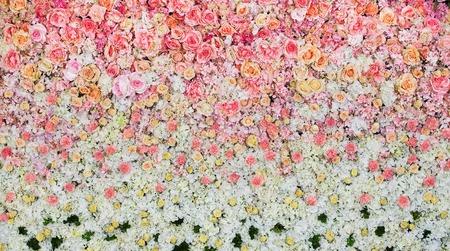 Beautiful flowers background for wedding scene Archivio Fotografico
