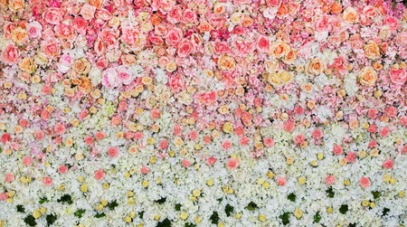 Beautiful flowers background for wedding scene Stockfoto