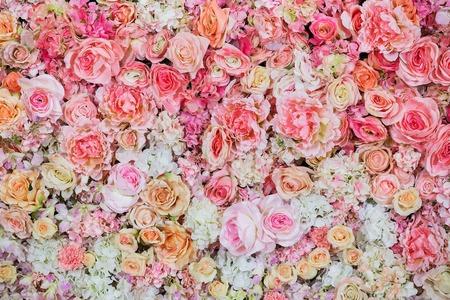 Beautiful flowers background for wedding scene 写真素材