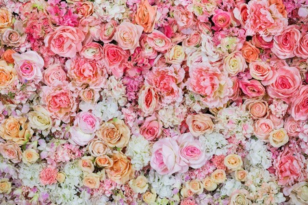 flower background: Beautiful flowers background for wedding scene Stock Photo