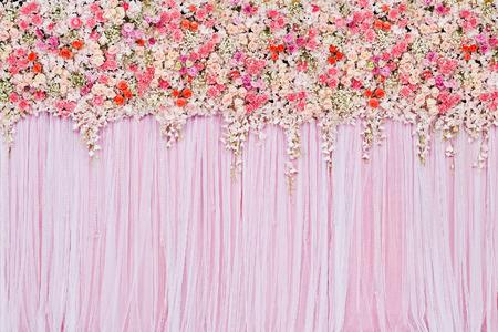 結婚式のシーンの美しい花の背景 写真素材