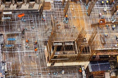 concrete commercial block: The steel structure building big picture view.