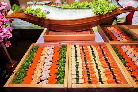 palatable: Including sushi, Japanese food palatable. Stock Photo