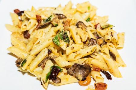 italian dish: Macaroni Bolognese Typical Italian dish.